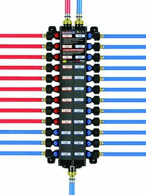 Viega 49142 38-inch Pex Press Polymer Manabloc With 14 Ports 8 Cold 6 Hot