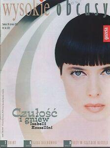 ISABELLA ROSSELLINI mag.FRONT cover No 26/2003 Poland - <span itemprop=availableAtOrFrom>europe, Polska</span> - Zwroty są przyjmowane - europe, Polska