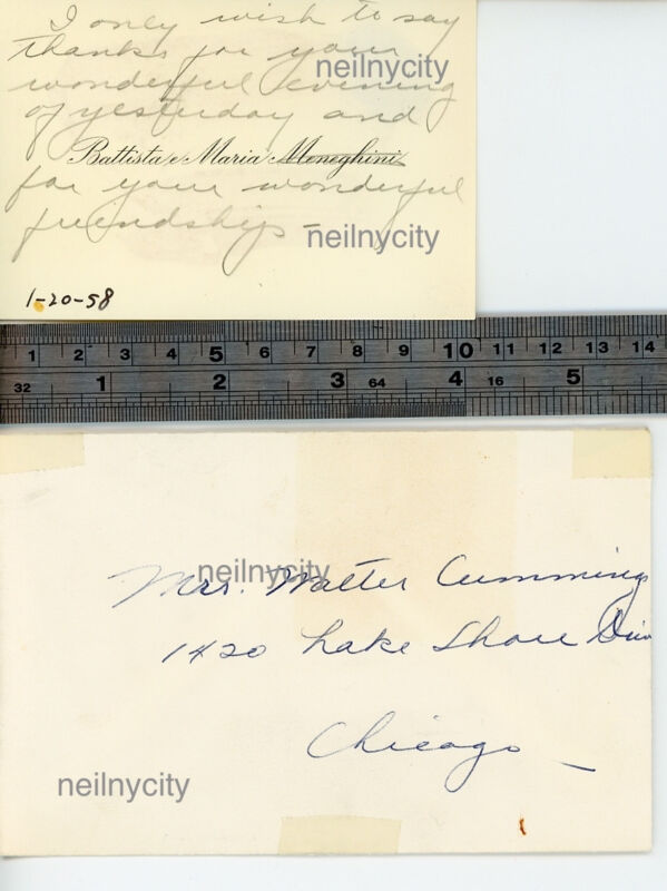 Maria Callas Autographed card and envelope - Historic content