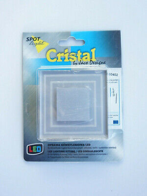 Cristal 6 Licht (LED Treppenlicht Aluminium CRISTAL 0,6W 30lm kaltweiß 12V Spot Light NEU #L8020)