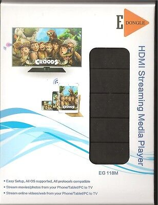 HDMI Streaming Media Player - EDongle EG118M - Stream from phone/tablet/pc to TV