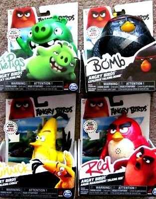 Angry Birds Talking Figures  Red Chuck Explosive Bomb The Pigs Your Choice New
