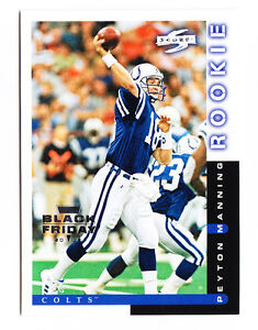 Peyton Manning 2012 Panini Black Friday NFL Score Rookie Card Reprint #'d 4/5 RC
