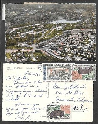 1963 Cameroun Postcard - Yaounde - Aerial View
