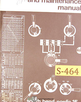 South Bend Nordic 15 Operations Maintenance Parts Electrical Manual
