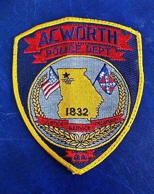 ACWORTH, GEORGIA POLICE SHOULDER PATCH GA