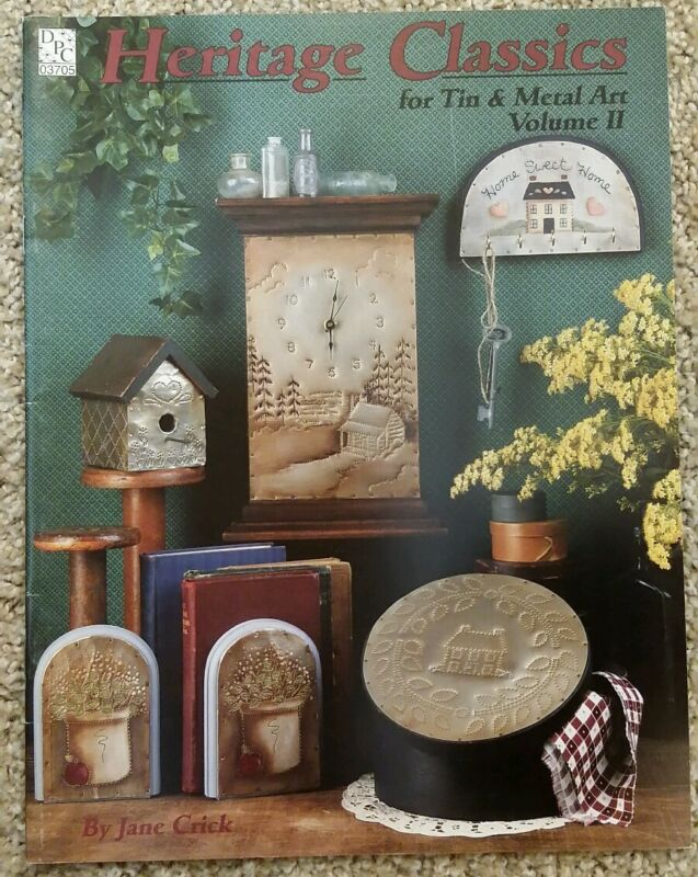 Heritage Classics For Tin & Metal Art Vol 2 By Jane Crick Tole Painting Vtg RARE
