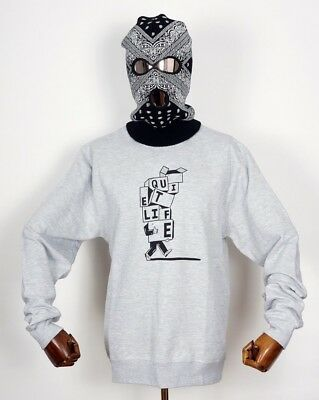 The Quiet Life Crewneck Crew Sweatshirt Pullover Stacked Boxes Grey in M