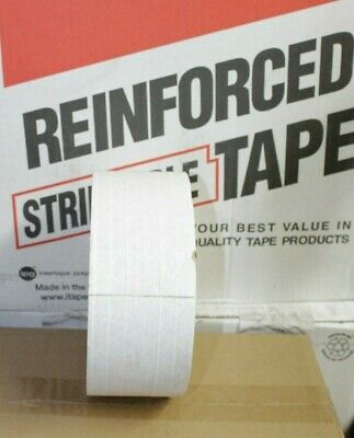 1 Roll Of Water Activated Reinforced Kraft Tape 3 X 450ft Central 270 White Gum