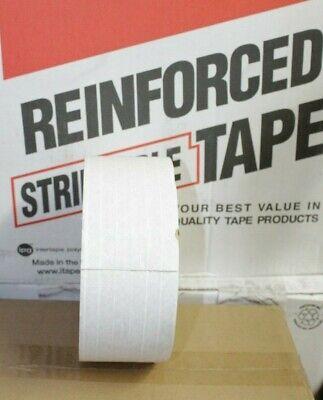 Central K8451 Heavy Duty Reinforced White Kraft Gum Tape 3 In X 450 Ft Grade 270