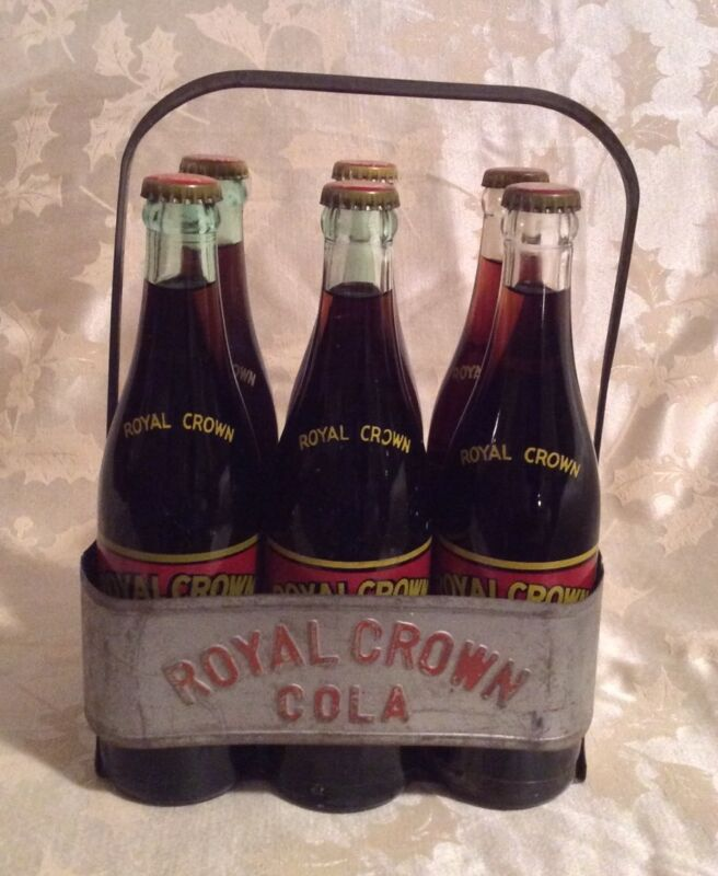 VINTAGE 6PACK ROYAL CROWN COLA BOTTLE SET