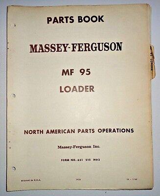 Massey Ferguson Mf 95 Loader Parts Catalog Manual Book Original 766