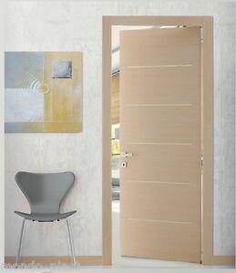 Porte porta interno con 5 inserti orizzontali cromo satinati 7 misure 9 colori ebay - Colori da interno ...