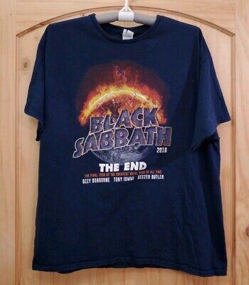 Mens Black Sabbath The End Tour 2016 Short Sleeve Shirt Size 2XL