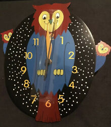 OWL Pendulum Kids Wall Clock Free Shipping!