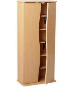 Wood Effect CD DVD 2 Door Storage Cupboard / Cabinet - Oak IP1519239