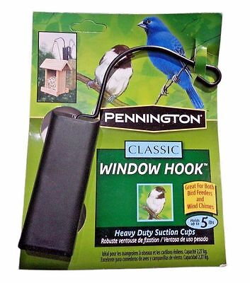 Pennington Classic Window Hook for Bird Feeder or Wind Chimes Holds 5 Pounds
