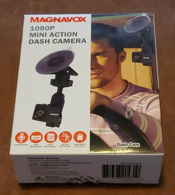 BRAND NEW Magnavox 1080P Mini Action Dash Camera