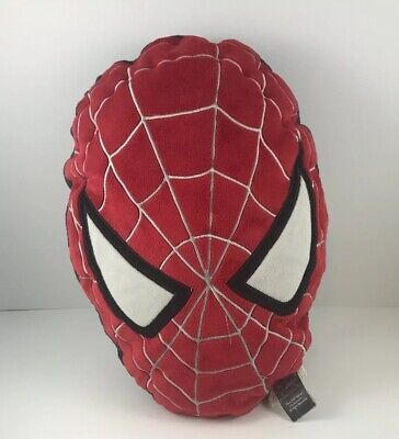 """Spider-Man Head Shaped Pillow 14"""" Oval  Marvel 2006 2-sided Red & (Oval Shaped Head Men)"""