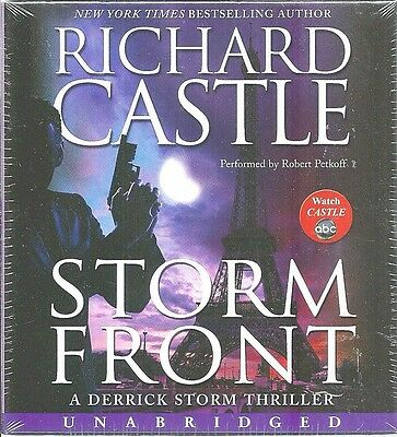 Storm Front  Audio SEALED New UNABRIDGED Richard Castle 9 CDs Romantic THRILLER