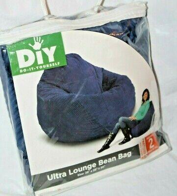 DIY Adult Ultra Lounge Blue Cord Bean Bag Chair Cover  Blue Bean Bag Chair
