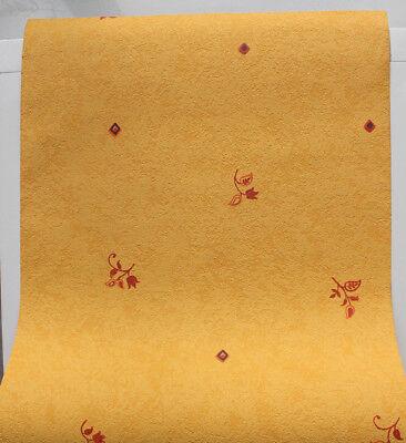 6 Rollen Strukturtapete AS Creation 1883-1 Gelb-Beige-Rot-Orange floral Muster Orange Floral Muster