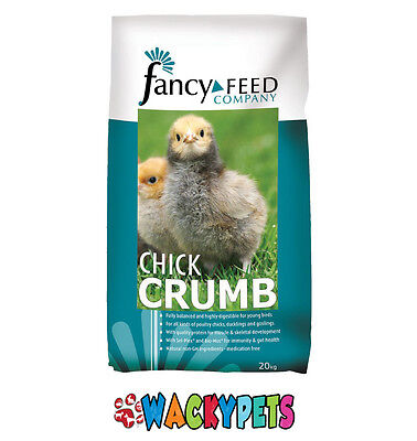 CHICK CRUMBS:Fancy Feeds 20kg for Poultry Chicks, Ducklings & Goslings (BAI101)