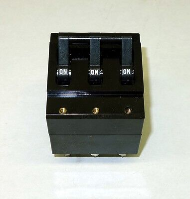 Military Surplus 3 Pole Circuit Breaker 203535 A 250vac For Military Generator