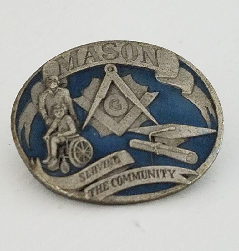 Vintage 1992 Masonic Mason Serving The Community Pin
