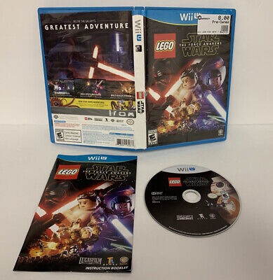 LEGO Star Wars: The Force Awakens (Nintendo Wii U, 2016) CIB FAST SHIPPING!