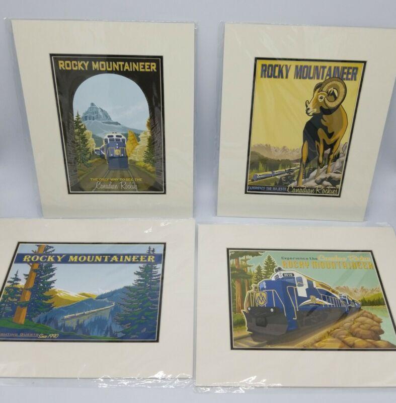 Jode Thompson Rocky Mountaineer Classic Art Set of 4 Art Prints Canadian Rockies