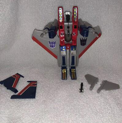 Transformers G1 STARSCREAM Decepticon Jet near complete (read description)