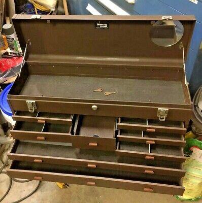 Kennedy 526 8-drawer Machinist Tool Maker Chest Box Dividers Keys 526-7475