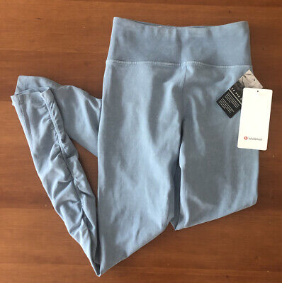 "NWT! LULULEMON Inner Glow Tight 28"" Blue High Rise Ruched Legging Size 4💙"