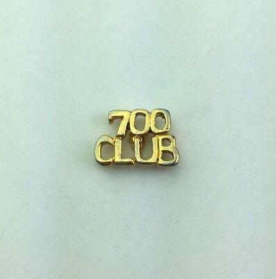 Vintage Gold Tone 700 Club Hat Lapel Pin Tie Tack 1 2