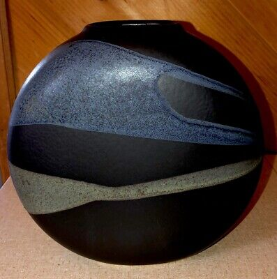 Mid Century Modern West Germany Art Pottery Round Vase MUST SEE VERY NICE