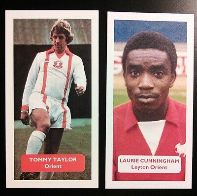 Oriental Trading Soccer (Complete set of 2 LEYTON ORIENT Score UK football trade cards CUNNINGHAM)