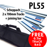 2 x 700mm SCHEPPACH PL55 PLUNGE SAW GUIDE RAIL, GUIDE TRACK ** FREE TRACK BAG **