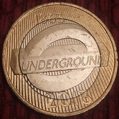 2013 £2 two pound coin - THE ROUNDEL - LONDON UNDERGROUND - UK £2 coin hunt (A)