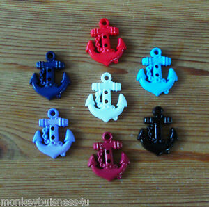 4-Novelty-Buttons-Anchor-Nautical-Kids-Knitting-Sewing-Cardmaking