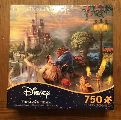 Disney Beauty And The Beast Thomas Kinkade Puzzle- New- 750 Pcs