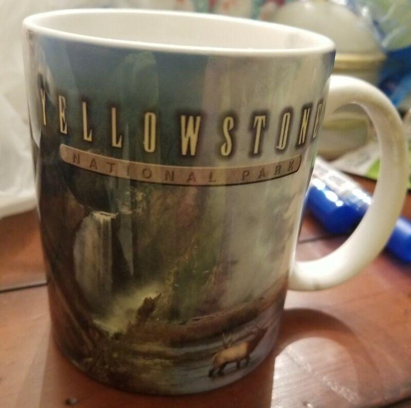 YELLOWSTONE NATIONAL PARK, Ceramic Coffee Cup / Mug, Vintage