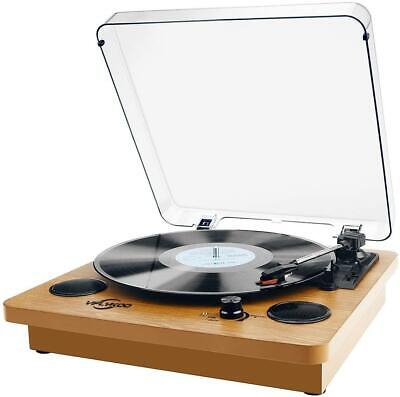 Natural Wood Record Player Bluetooth Portable Vinyl Turntable Digital Encoder