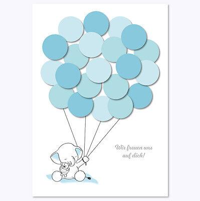 er, Deko, Baby Andenken, Elefant, junge, blau von Mia-Felice (Blaues Baby-elefant)