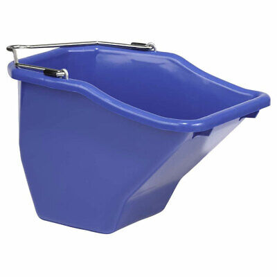 Little Giant 20-quart Durable Plastic Flat Back Livestock Feed Bucket Blue