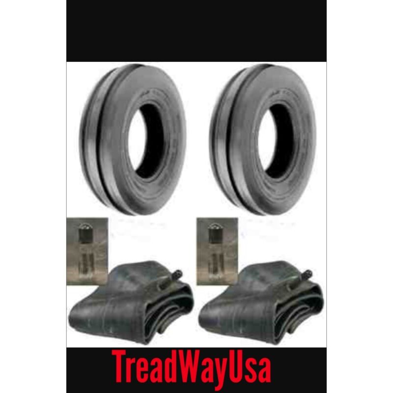 TWO 350X6 350-6 3.50X6 3.50-6 FRONT 3 RIB Cub Cadet Easy Steer Tires with Tubes
