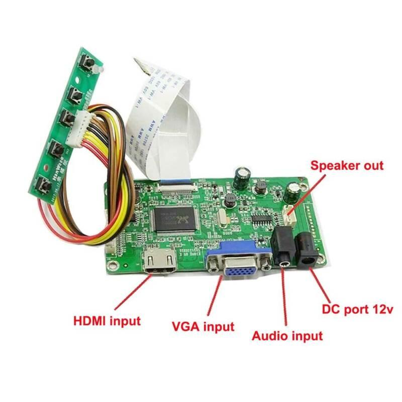 N140BGE-EB3/-EA3/N140BGE-E53 EDP LCD HDMI+VGA LCD Screen Controller Board Driver