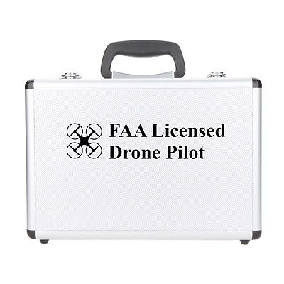 FAA Licensed Drone Captain vinyl decal car sticker UAS Certified Registered BLACK