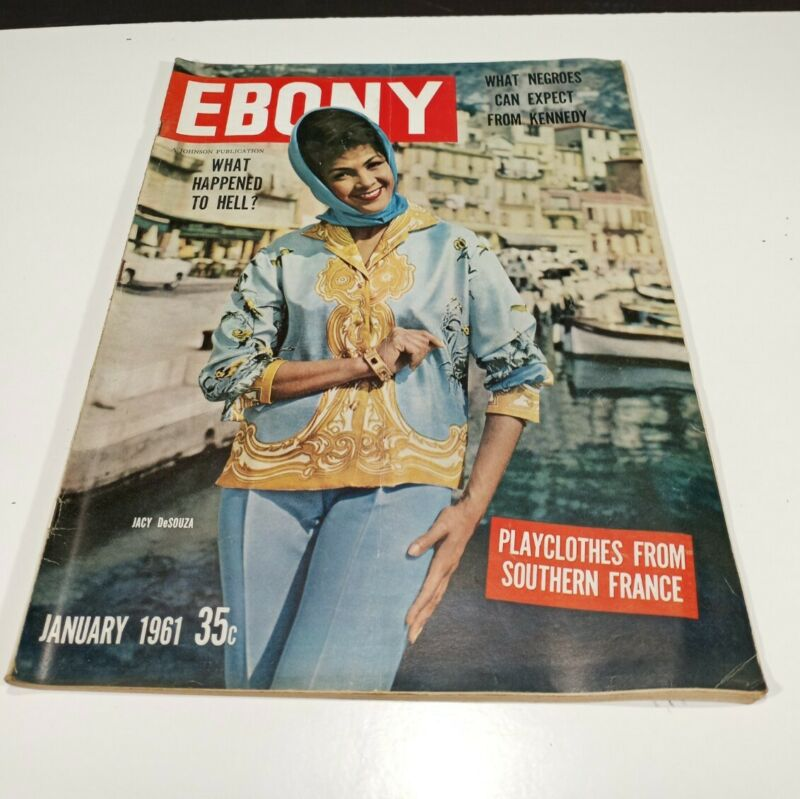 Vintage January 1961 Ebony Magazine 35c Jacy D