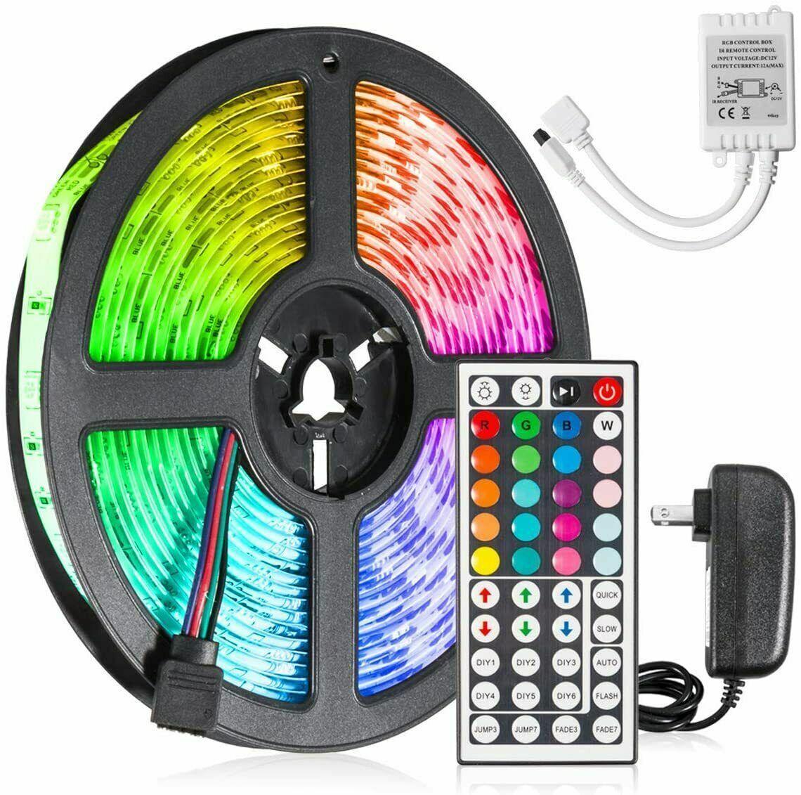 Led Strip Lighting 5M 16.4 Ft 5050 RGB 150 LEDs Flexible Color Changing Light Home & Garden